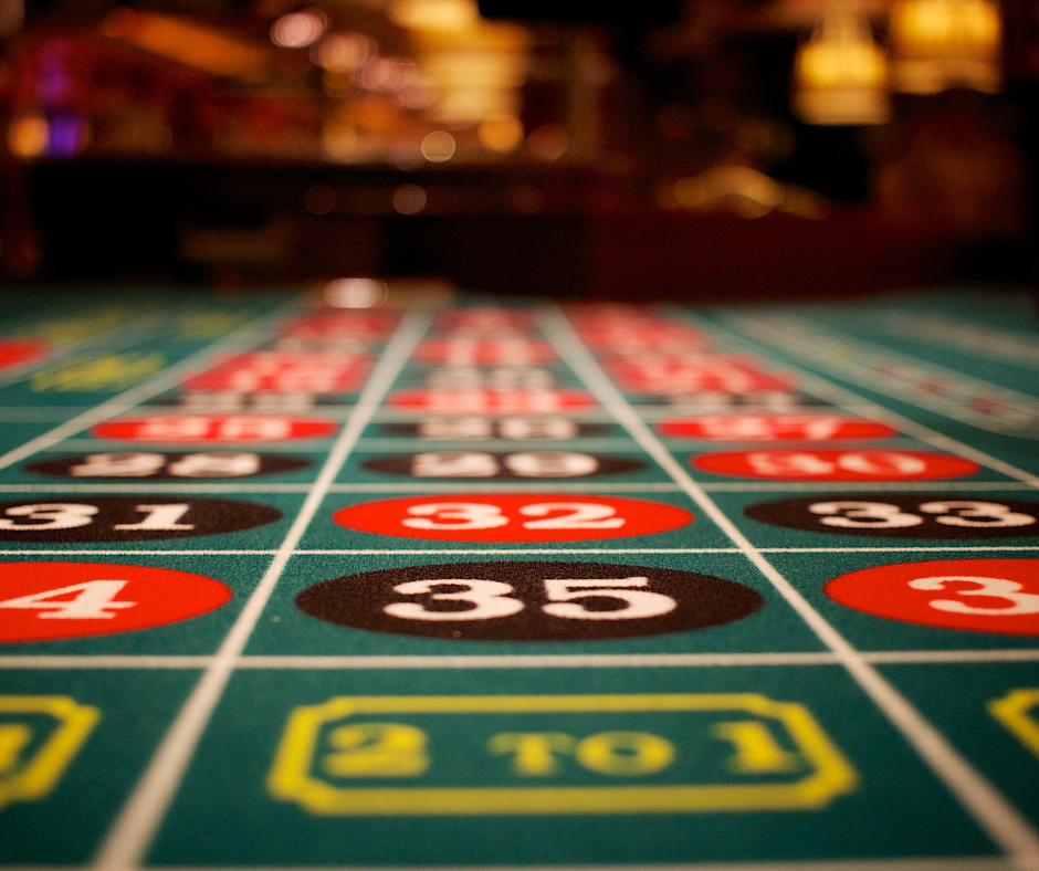 casino roulette game layout